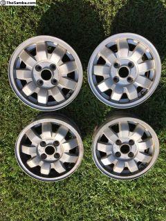 VW 13 inch OEM 9 Spokes, Tarantula 4x100 set of 4