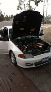 Turbo 93 Civic with upgrades ,text