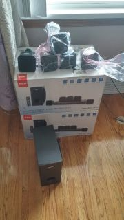 2 sets of RCA Surround sound speakers with remote but no receiver