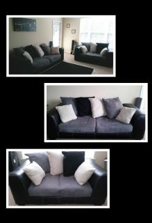 Leather and micro suede living room set PRICE IS NEGOTIABLE