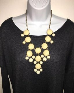 Charming Charlie Off-White Bubble Necklace