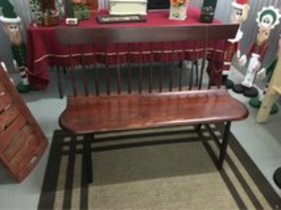 Maple and Cherry Wood Bench