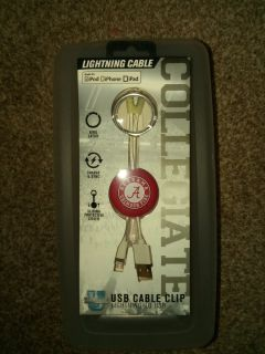 New Crimson Tide charge & sync lightning to USB cable clip