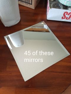 Mirrors for center pieces