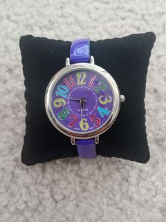 EUC Purple Band Quartz Watch