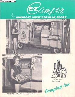 1964 4 Page EZ Camper Bus Sales Brochure #2