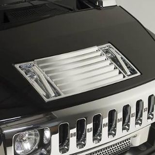 Sell Putco 403406 Grille Insert Hood Vent Chrome ABS Plastic Hummer H2 2003-09 Each motorcycle in Tallmadge, Ohio, US, for US $171.97