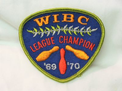 69-70 WIBC League Champion Women's International Bowling Embroidered Patch