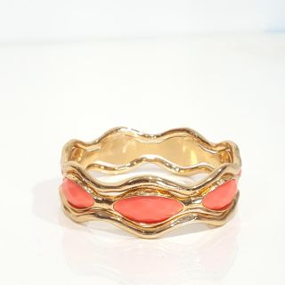 Bangle 3 piece gold and pink