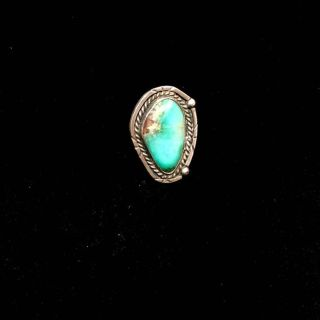 Silver ring - Green turquoise