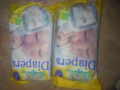 Diapers, 10ct, size 3