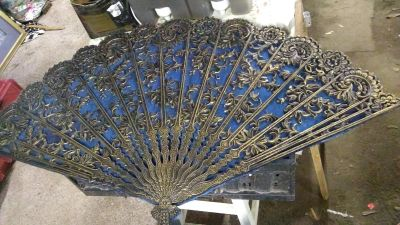 Antique chinese wall hanging fan