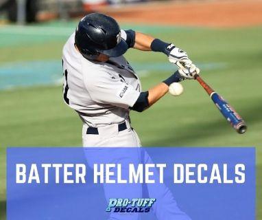 Buy Baseball & Softball Batter Helmet Decals Online