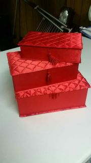 Red Decorative Boxes