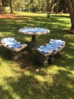 Outdoor Concrete Round table
