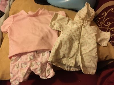 Doll clothes lot of three pictures
