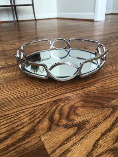 Mirrored tray! Great for candles! $10