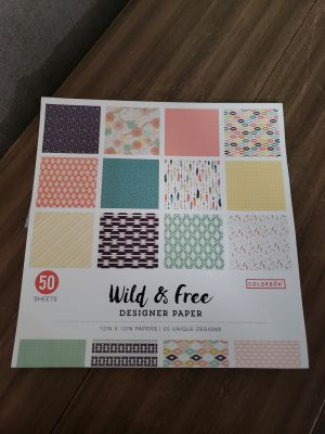 Brand New Wild & Free 12 x 12 Scrapbook Paper. 50 Sheets!