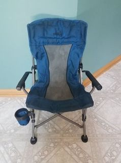 Toddler Blue Camp Chair with Cup Holder