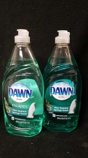 2 dawn ultra escapes dish soap 16.2oz each