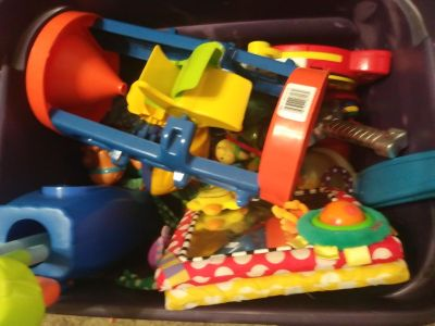 Huge tote of toys