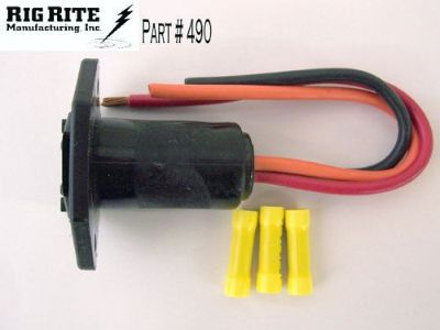 Find RIG RITE MALE 3-WIRE TROLLING MOTOR RECEPTACLE #490 10 GAUGE 12/24 VOLT motorcycle in Minneapolis, Minnesota, United States, for US $15.99