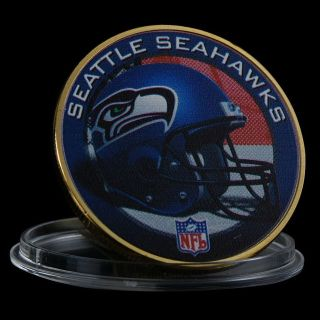 SEATTLE SEAHAWKS Gold Plated Challenge Coin *** NEW ***