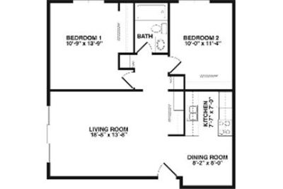 Great Central Location 2 bedroom, 1 bath. Parking Available!