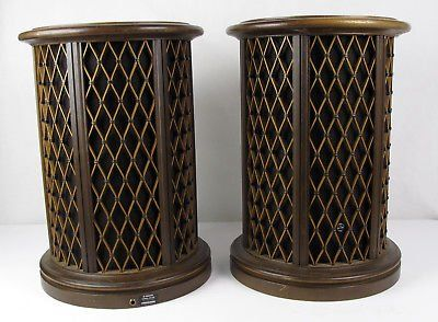 Pair of Rare Vintage Pioneer CS-05 Omnidirectional round end table speakers