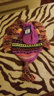$2 nwt toddler hat and mitten set