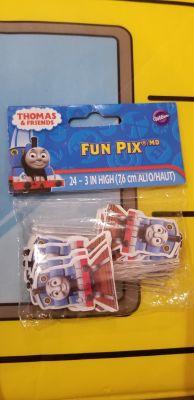 Thomas the train cupcake picks