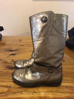 Nordstrom brand silver toddler boots size 10