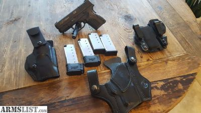 For Sale: Springfield XDS 3.3, .45 acp with 3 holsters