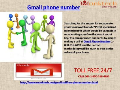 How Gmail Phone Number is the correct approach to find Gmail issues 1-850-316-4893?