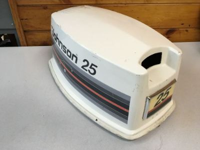 Sell Early 80 s Johnson 25 Hp 2 Stroke 2 Cylinder Hood Top Cowl Cover Freshwater MN motorcycle in Keewatin, Minnesota, United States, for US $129.99