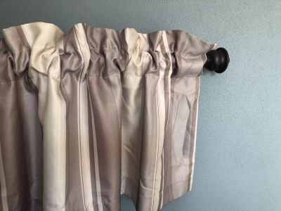 Beautiful bronze curtain rod and set of two valances