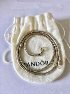 Sterling silver 926 Pandora style Charm Necklace 20