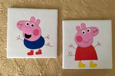 Peppa Pig and George Art for the Wall