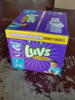Brand new Luvs Diapers size 2