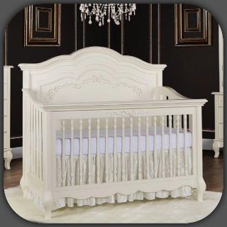 Evolur Aurora 5-in-1 Convertible Crib, Ivory Lace - Retail $599, New In Box