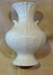 "Elfin Bud Vase by Lenox China, 4"" tall, with Gold Trim"