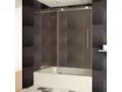 LessCare LBTDC-C quot x quot Bath-Tub Door Chrome Fini