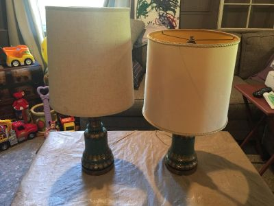 Antique Lamps and Shades