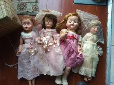 Creepy vinyl dolls
