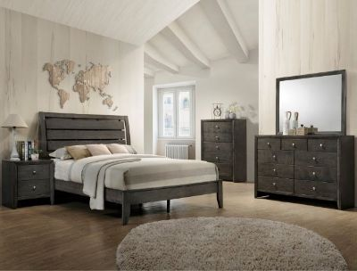 "SALE! UPSCALE GREY FINISHED ""MONTAGE"" QUEEN BED SET COLLECTION! MADE OF SOLID WOOD!"