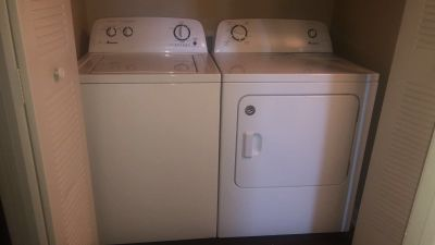 washer and drier- works perfectly fine