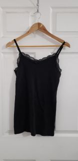 Black Spaghetti Strap Tank Top Size Large. Excellent Condition.