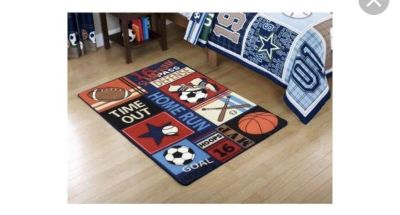 ISO sports theme rugs