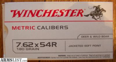 For Sale: Winchester 7.62x54R JSP Ammo