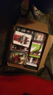Box of over 60 dvds